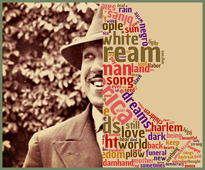 Langston Hughes wordcloud