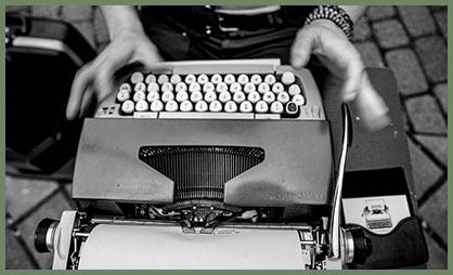 Typewriter Troubadour by Andrea Corradini