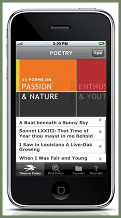 the Poetry Foundation's POETRY mobile app