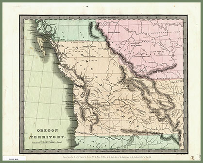 Oregon Territory map 1833