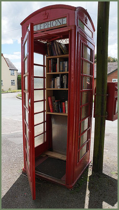 Phonebox library, Staffordshire