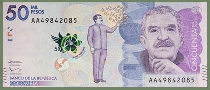 Gabriel García Márquez bank note
