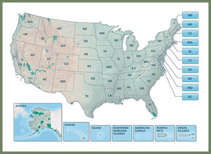 NPS: Find a Park Map by State