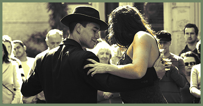 Tango dancers in Buenos Aires, Argentina