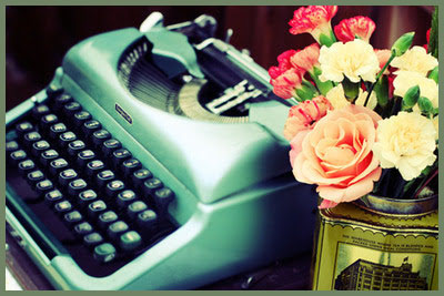 typewriter-flowers