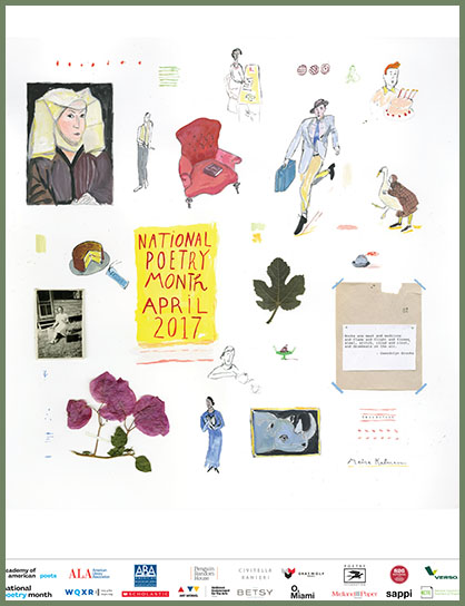 Image result for high resolution image of national poetry month poster