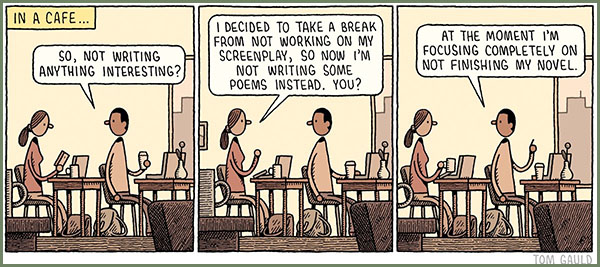 Image result for writers life cartoon