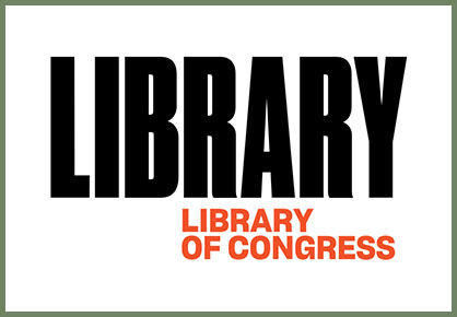 LOC logo in all caps with the word LIBRARY in extra large black letters