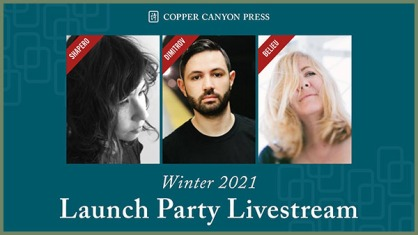 event announcement with photos of Natalie Shapero, Alex Dimitrov, and Erin Belieu
